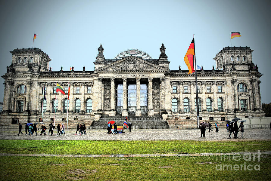 Berlin Photograph - German Reichstag by Jost Houk