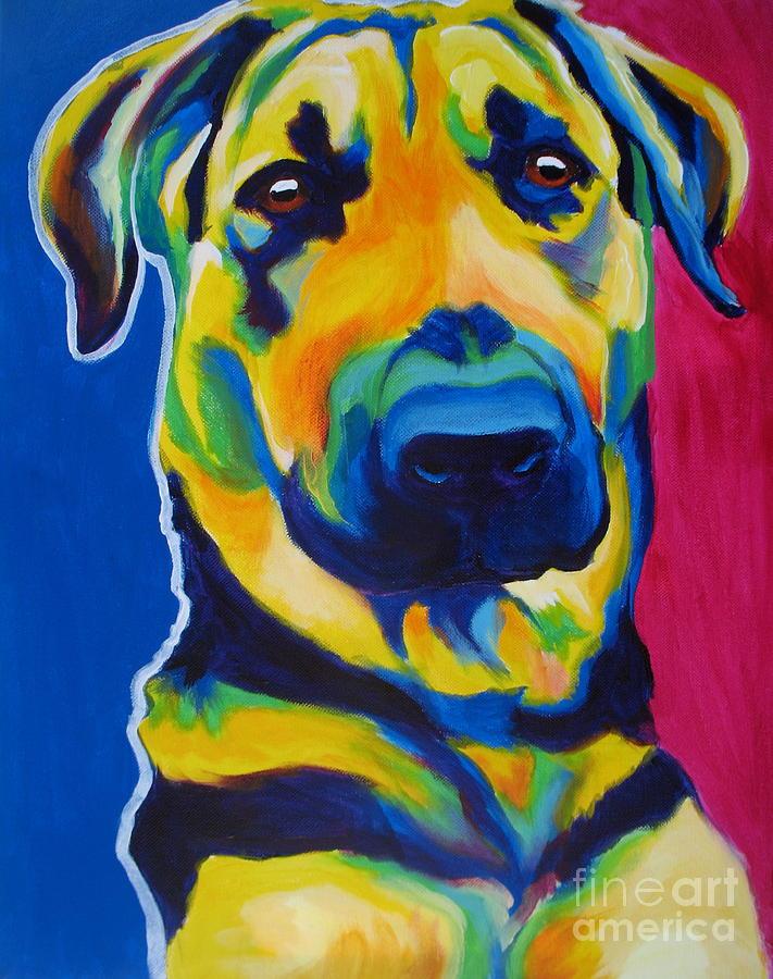 German Shepherd Painting - German Shepherd - Duke by Alicia VanNoy Call