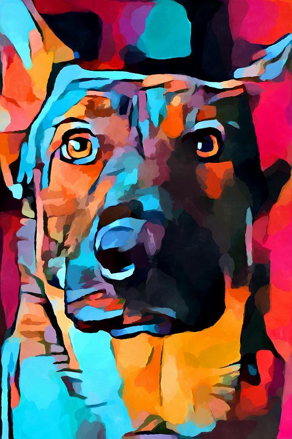 German Shepherd Painting - German Shepherd 7 by Chris Butler