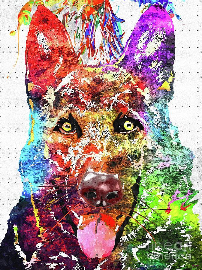 German Shepherd Mixed Media - German Shepherd by Daniel Janda