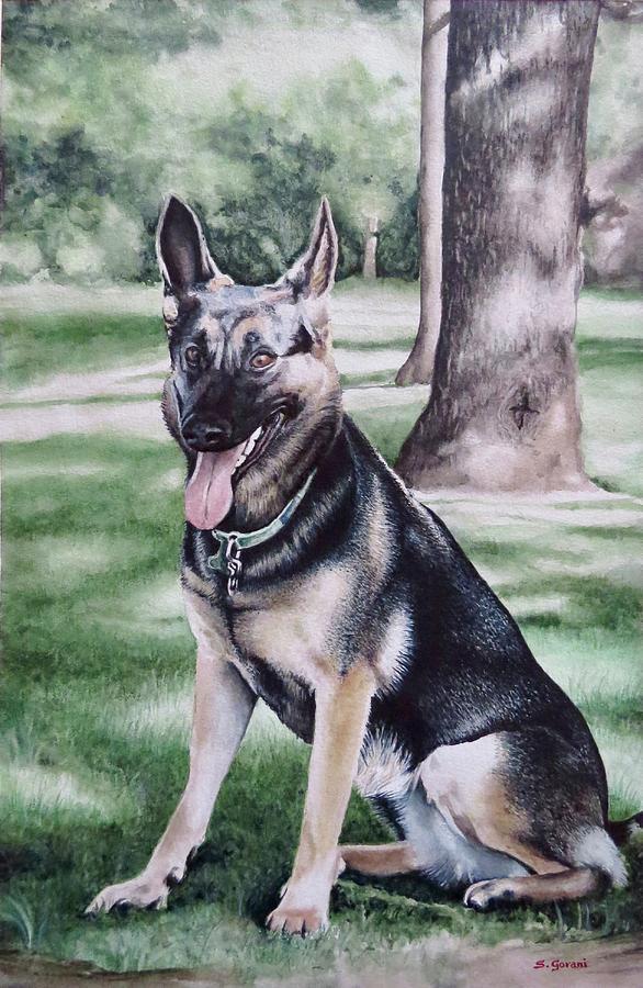 German Shepherd Painting - German Shepherd by Geni Gorani