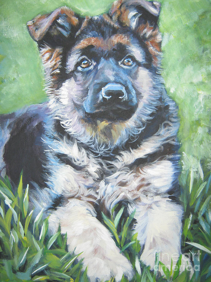 German Shepherd Painting - German Shepherd Puppy by Lee Ann Shepard