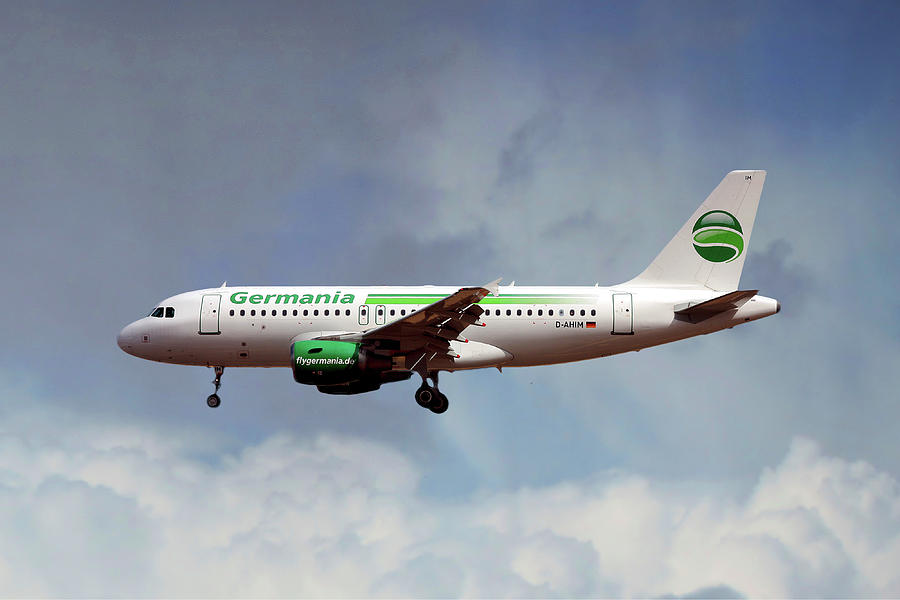 Germania Photograph - Germania Airbus A319-112 by Smart Aviation