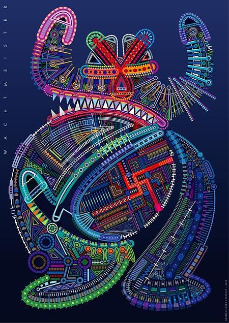 Figuration Digital Art - Germanisches Gespenst by Bernd Wachtmeister