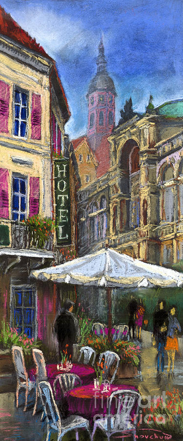 Pastel Painting - Germany Baden-baden 07 by Yuriy  Shevchuk