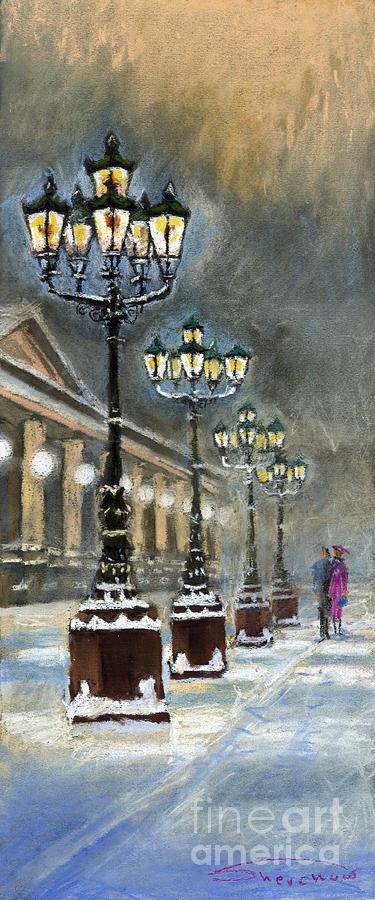 Pastel Painting - Germany Baden-baden Kurhaus by Yuriy  Shevchuk
