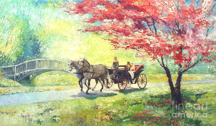 Allee Painting - Germany Baden-baden Lichtentaler Allee Spring 2 by Yuriy  Shevchuk