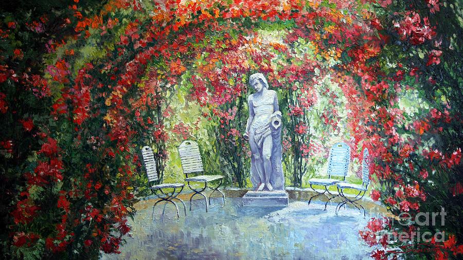 Oil Painting - Germany Baden-baden Rosengarten 02 by Yuriy Shevchuk