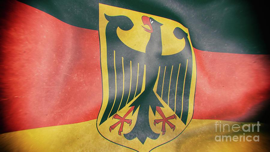 Germany Flag 3d Illustration Digital Art