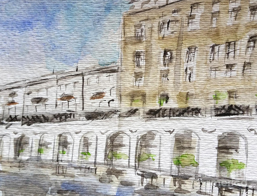 Watercolor Painting - Germany Impression by AQQ Studio