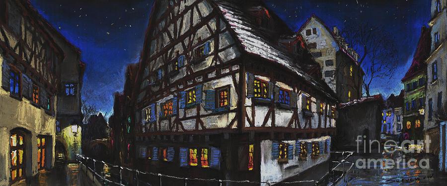 Pastel Painting - Germany Ulm Fischer Viertel Schwor-Haus by Yuriy Shevchuk