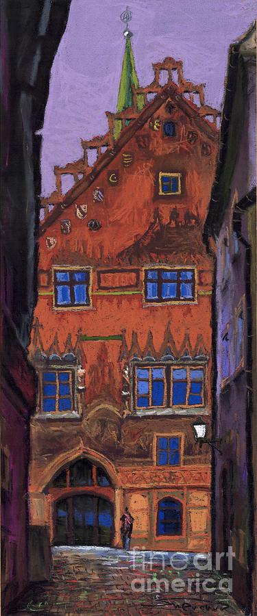 Pastel Painting - Germany Ulm by Yuriy  Shevchuk