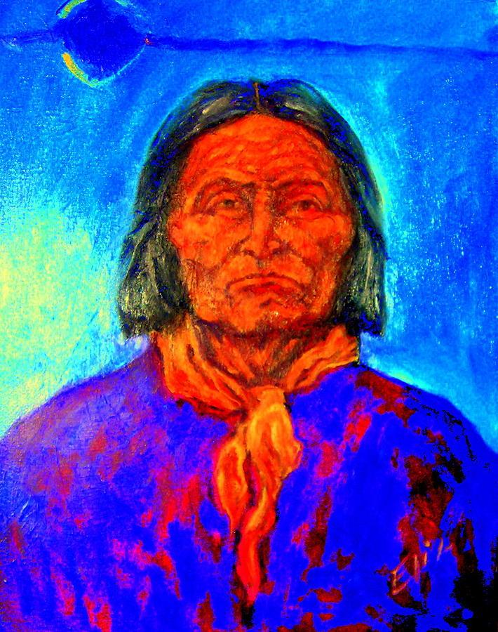 Geromino - Chiricahua Apache Leader Painting by Johanna Elik