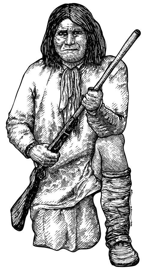 Drawing Drawing - Geronimo by Karl Addison