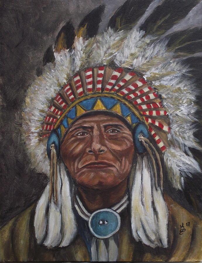 Acrylic Painting - Geronimo by Kim Selig