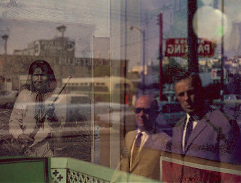 Reflections Photograph - Geronimo Vs The Fbi by Jim Coe