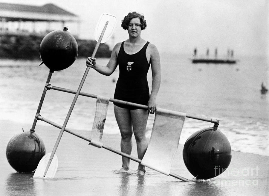 1924 Photograph - Gertrude Ederle (1906-2003) by Granger