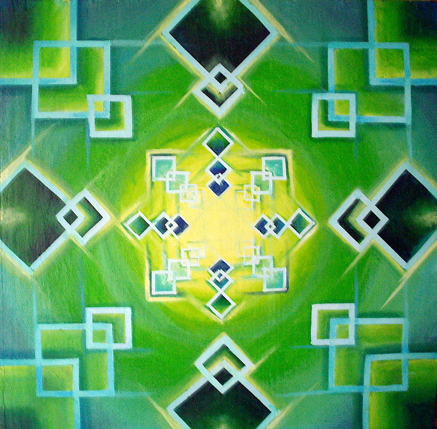 Square Painting - Gestalt by Morgan  Mandala Manley