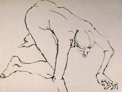 Bamboo Brush Drawing - Gesture Drawing Number 05a by Denise Urban