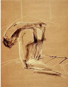 Pastel Drawing - Gesture Drawing Number 10a by Denise Urban