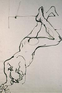 Bamboo Brush Drawing - Gesture Drawings Number 01a by Denise Urban