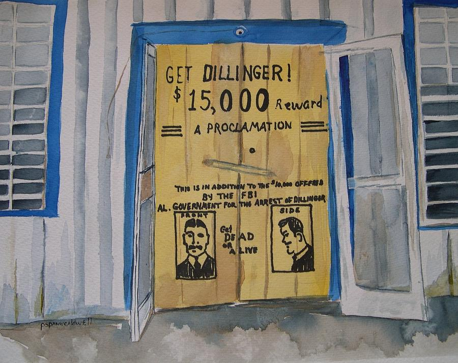 Building Painting - Get Dillinger by Patricia Caldwell