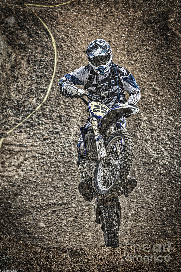 Motorcycle Photograph - Get Dirty by Mitch Shindelbower