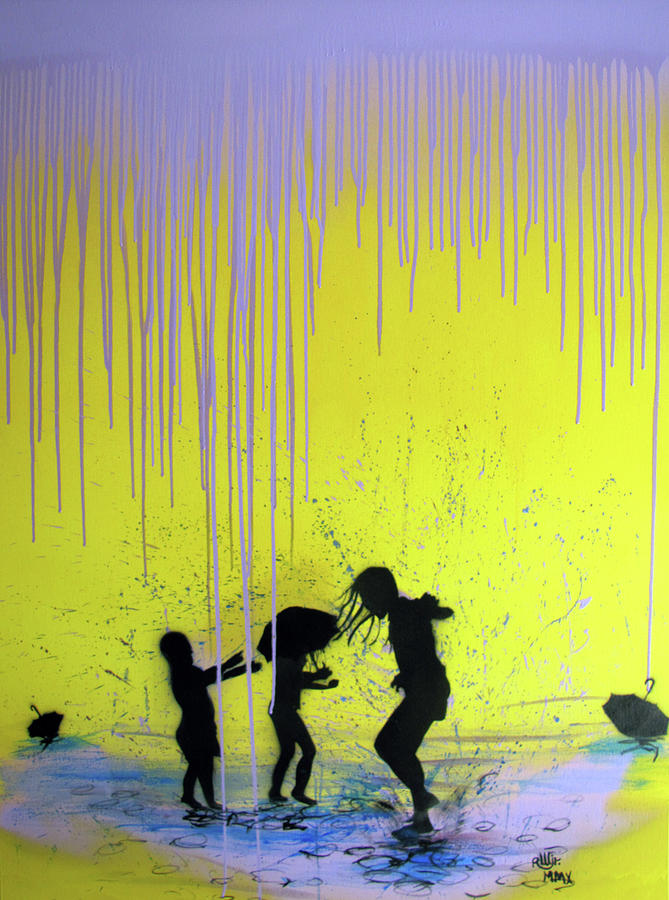 Contemporary Painting - Get Your Feet Wet by Robert Wolverton Jr