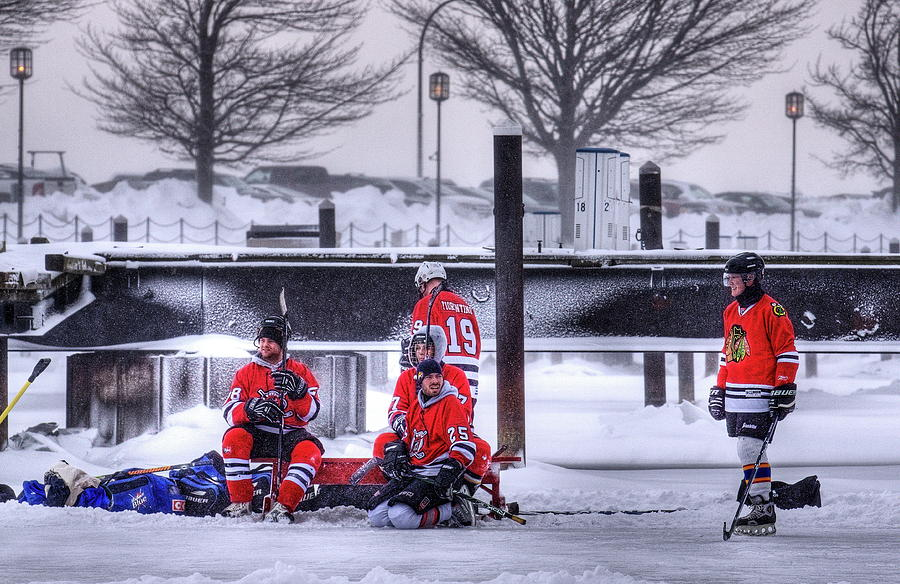 Hockey Photograph - Getting Ready by Don Nieman