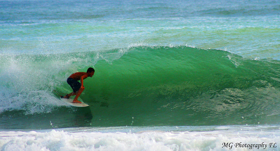Surfing Photograph - Getting Some Shade by Marty Gayler