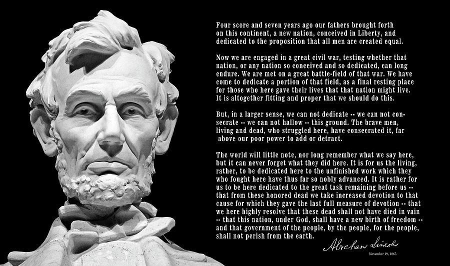Lincoln Photograph - Gettysburg Address  1863 by Daniel Hagerman