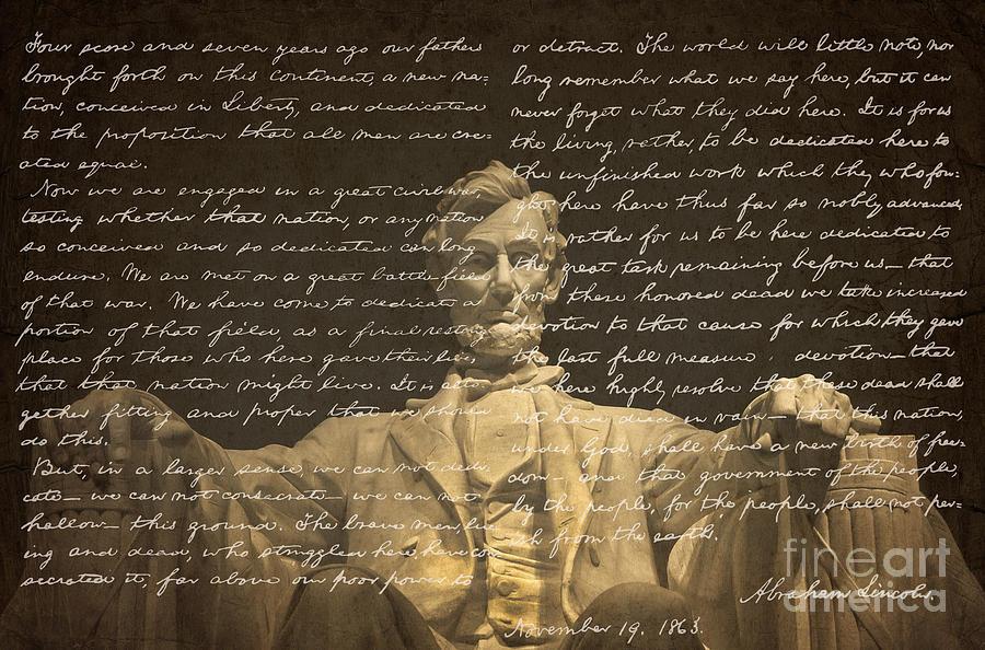 Gettysburg Address Photograph - Gettysburg Address by Diane Diederich
