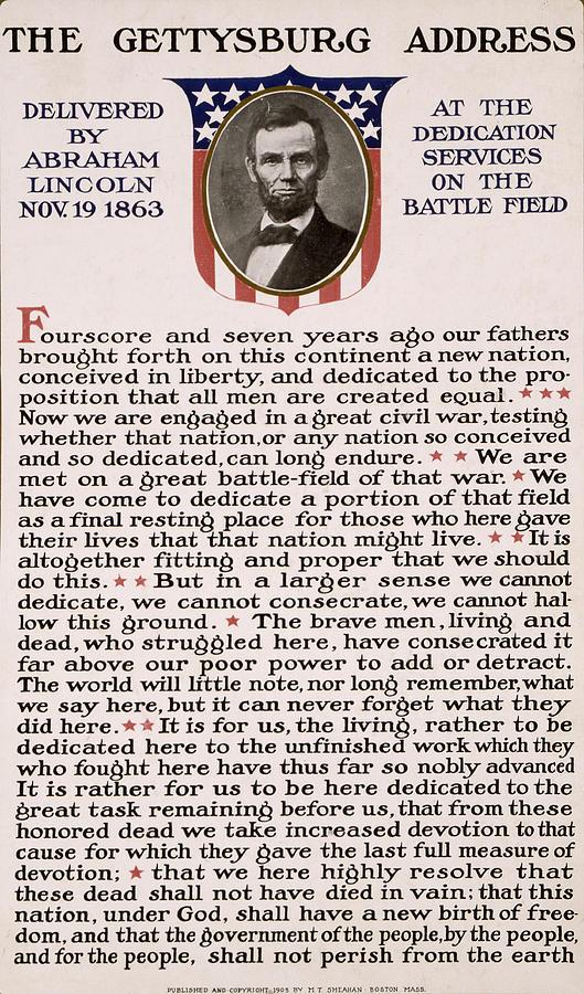 gettysburg Address  Photograph - Gettysburg Address by International  Images