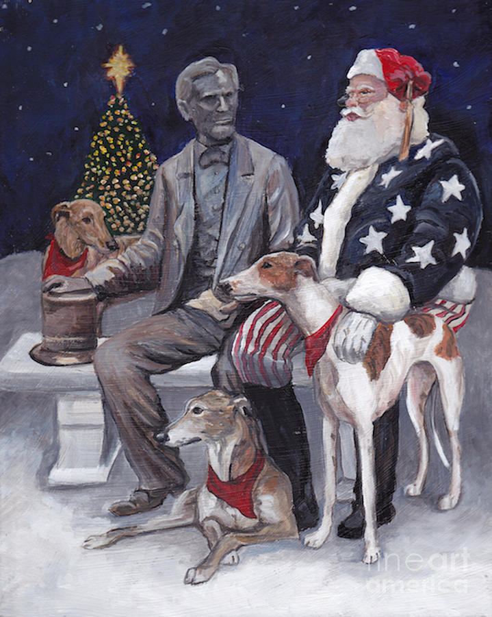 Christmas Painting - Gettysburg Christmas by Charlotte Yealey