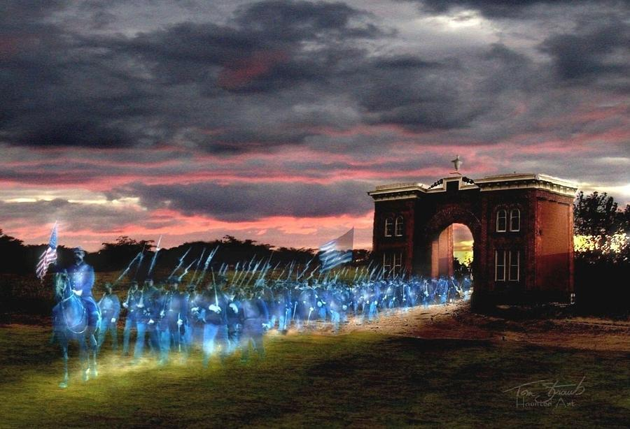 Union Soldiers  Digital Art - Gettysburg Evergreen by Tom Straub