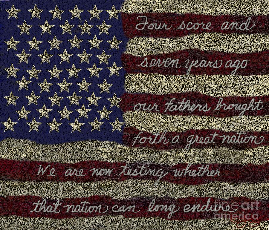 Gettysburg Digital Art - Gettysburg Homage Flag by Carol Jacobs