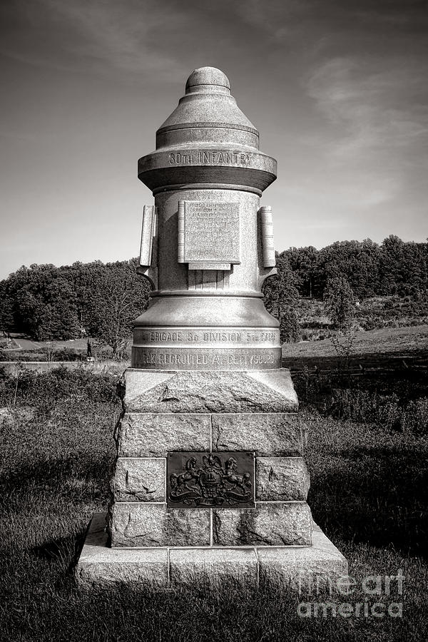 Gettysburg Photograph - Gettysburg National Park 30th Pennsylvania Infantry Monument by Olivier Le Queinec