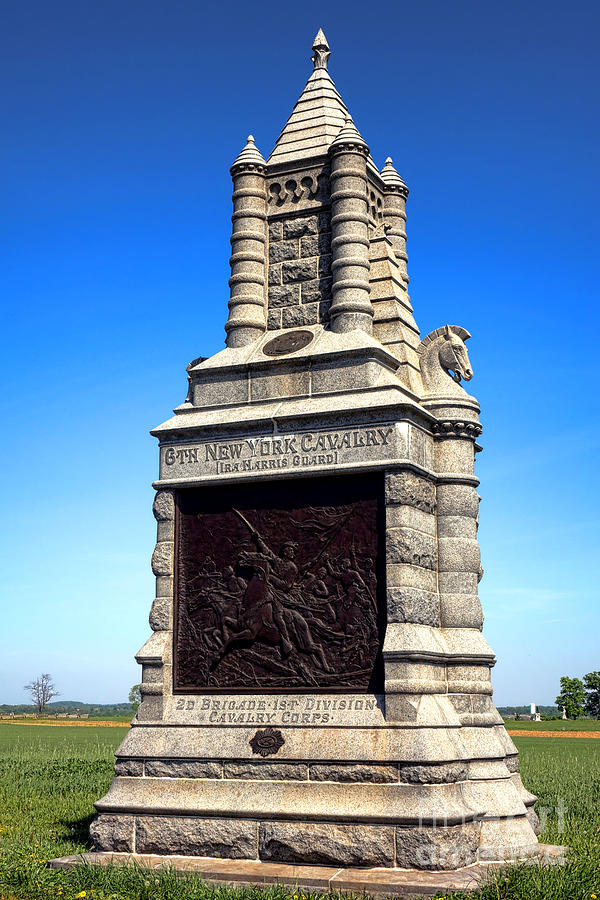 Gettysburg Photograph - Gettysburg National Park 6th New York Cavalry Memorial by Olivier Le Queinec