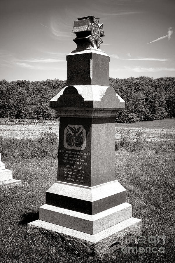 Gettysburg Photograph - Gettysburg National Park 6th Wisconsin Iron Brigade Monument by Olivier Le Queinec