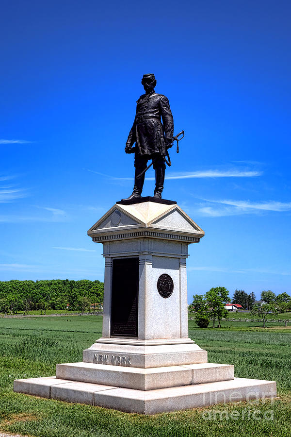 Gettysburg Photograph - Gettysburg National Park Abner Doubleday Memorial by Olivier Le Queinec