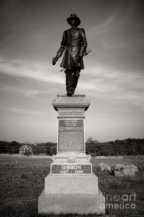 Gettysburg Photograph - Gettysburg National Park John Gibbon Monument by Olivier Le Queinec