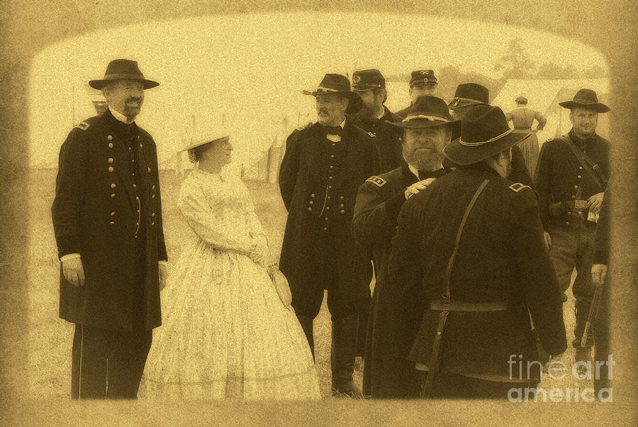 Reenactment Photograph - Gettysburg Officers by Paul W Faust - Impressions of Light