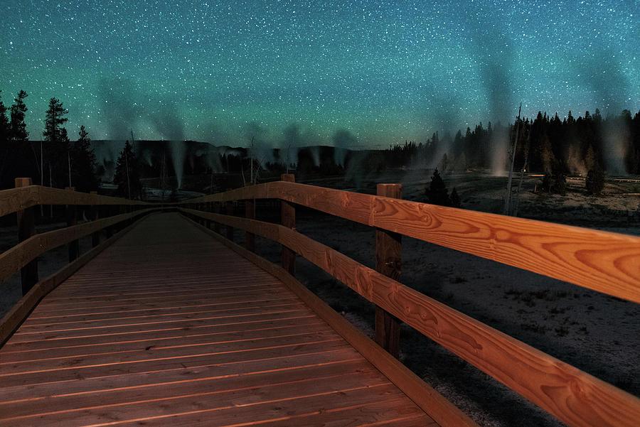 Geyser Basin Boardwalk Photograph