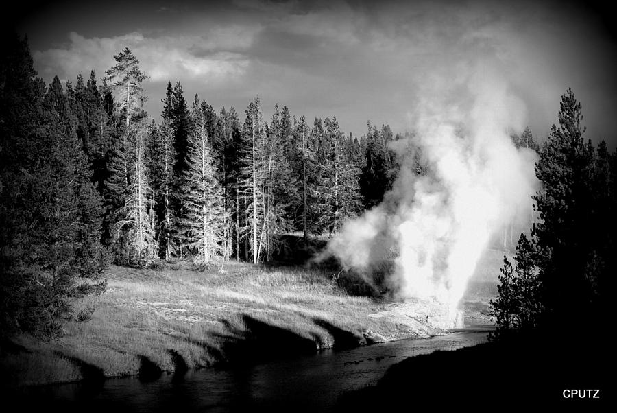 Yellowstone National Park Photograph - Geyser by Carrie Putz