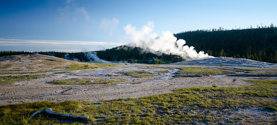 Geyser Steam Photograph