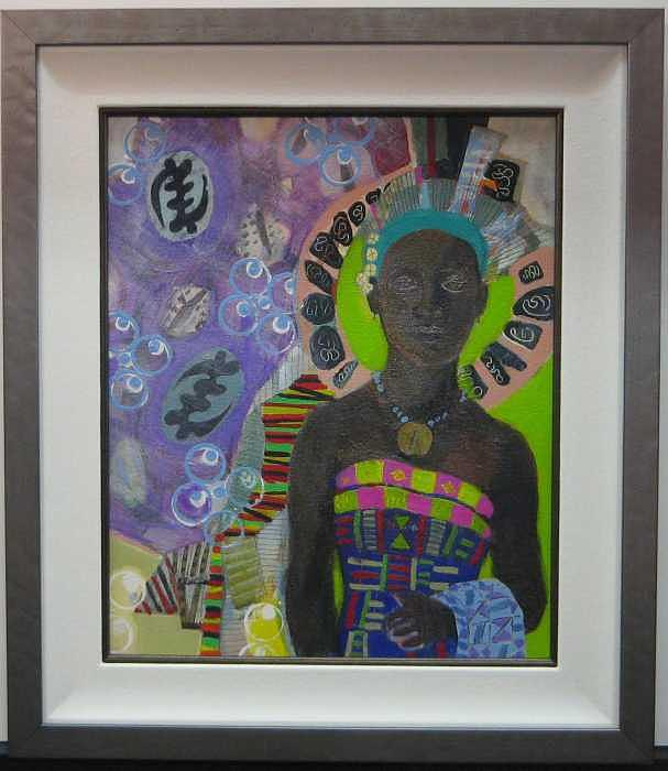 Ghana Woman Painting by D G Reid