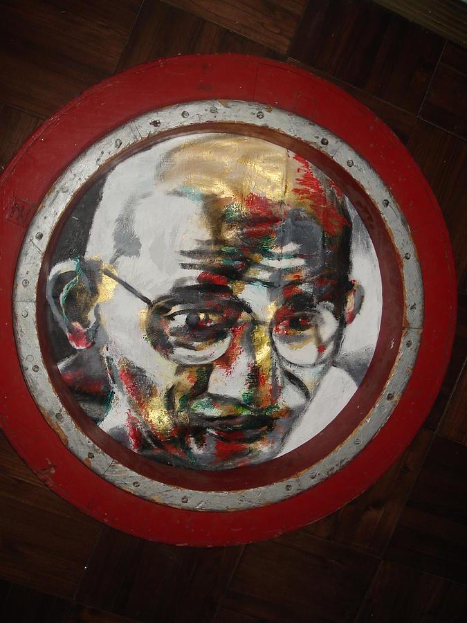 Ghandi Painting by Dario Mohr