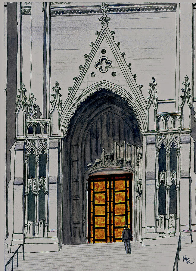 Ghiberti Doors Of Grace Cathedral by Mike Robles