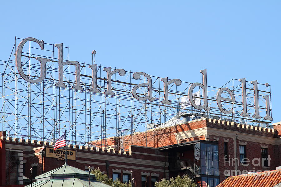 San Francisco Photograph - Ghirardelli Chocolate Factory San Francisco California . 7d13979 by Wingsdomain Art and Photography