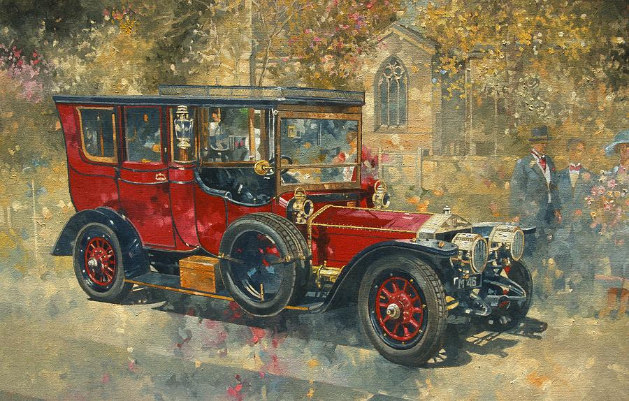 Automobile Painting - Ghost - Hawton by Peter Miller